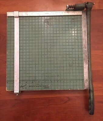 Vintage 13 X 13. Premier Paper Cutter By Photo Materials Co. Chicago Ill