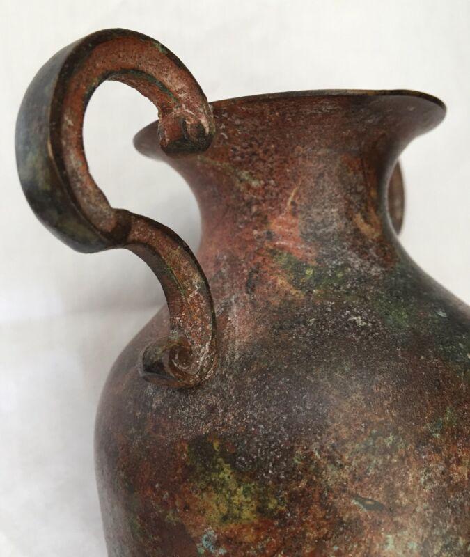 Original Antique Eastern Roman Empire Byzantine Bronze Vase  From Balkan