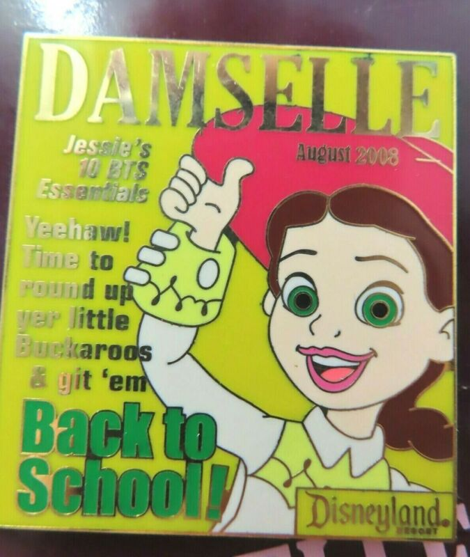 Disney Pin * Damselle Magazine 2008 Jessie August LE 1000 #63768