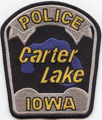 CARTER LAKE IOWA IA POLICE PATCH