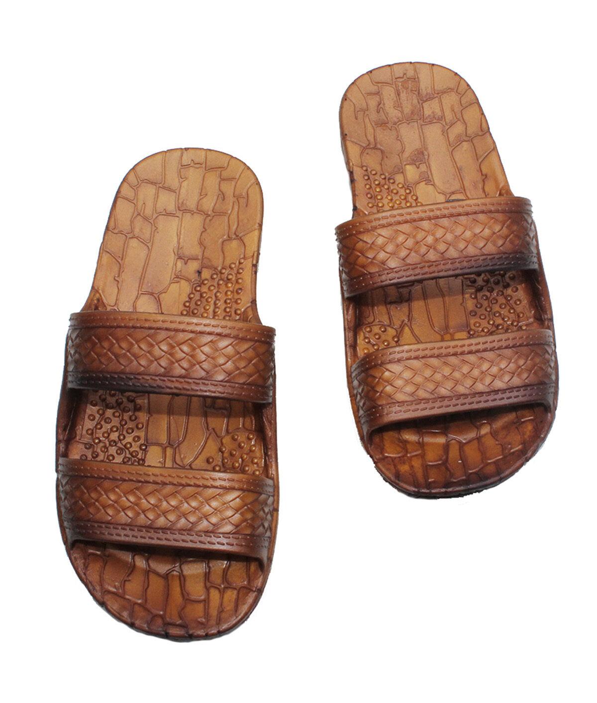 Black jesus sandals - Hawaii Brown And Black Jesus Sandals For Kids