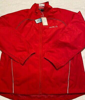 RARE COCA-COLA Mens Waterproof All Weather Rain Windbreaker Jacket - Size Medium
