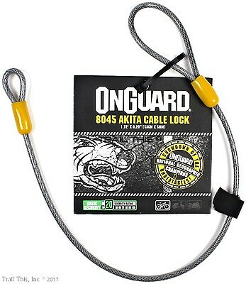 "OnGuard Akita Cable 21"" x 5mm Bicycle Saddle / Seat Cinch-Loop Lock Cable"