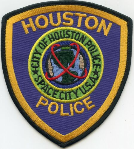 HOUSTON TEXAS TX Blue Background POLICE PATCH