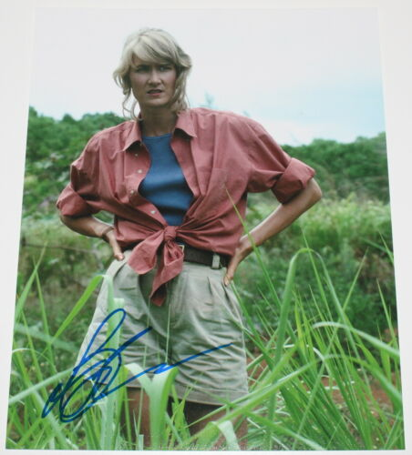 LAURA DERN SIGNED AUTHENTIC 'JURASSIC PARK' ELLIE 11x14 MOVIE PHOTO COA ACTRESS