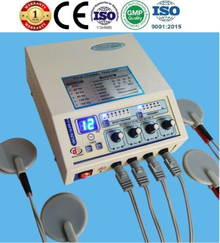 New Electrotherapy 4 Channel Pain Relief Pulse Massager Physiotherapy Machine CE