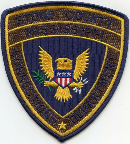STONE COUNTY MISSISSIPPI MS DOC CORRECTIONS SHERIFF POLICE PATCH
