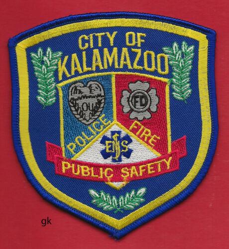 KALAMAZOO MICHIGAN  POLICE FIRE  EMT  SHOULDER PATCH  Color