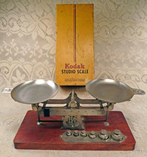 Vintage Eastman Kodak Studio Scale & Weight Set Complete in Original Box