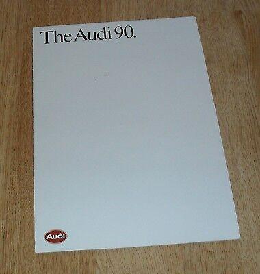 Audi 90 Brochure 1986 inc Quattro