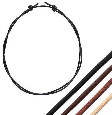 Lederband Leder-Kette Leder-Halsband Halskette mit Knotenverschluss einstellbar Halsketten Leder
