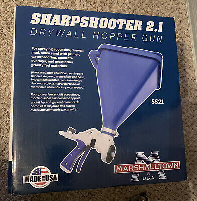 Marshalltown Sharpshooter 2.1 Drywall Texture Hopper Spray Gun New