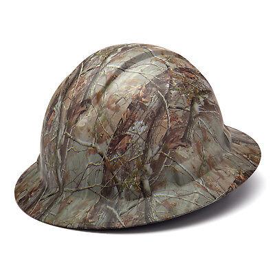 Pyramex Ridgeline Hard Hat Camouflage Pattern Full Brim Ratchet Hp54119