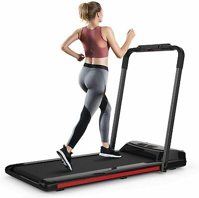 2 in 1 Foldable Running Machine Portable Compact Treadmill for Running Exercise