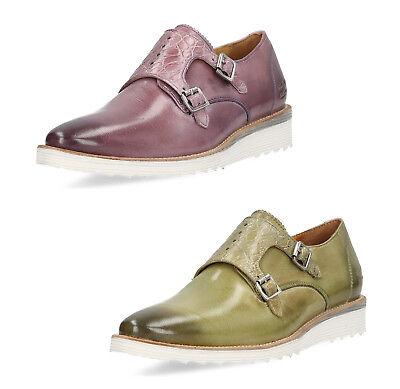 Melvin & Hamilton Damen Slipper Schuhe Mokassins echt Leder Halb Loafer bequem (Slipper Damen Mokassins)
