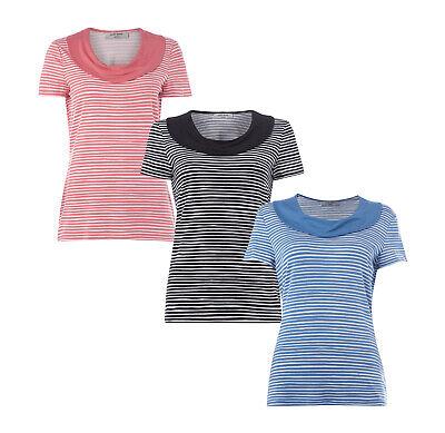 Muster Streifen T-shirts (Gerry Weber Edition Shirt mit Streifenmuster Damen T-Shirt NEU Größe 44 46)
