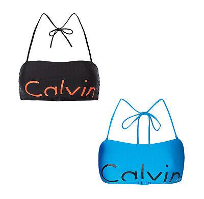 Calvin Klein Damen Bikini Bikini-Oberteil Push-Up Neckholder Bademode Größe XS