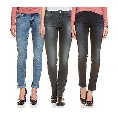 Mustang Damen 5 Pocket Jeans Slim Fit Hose elastischer Baumwolle washed out