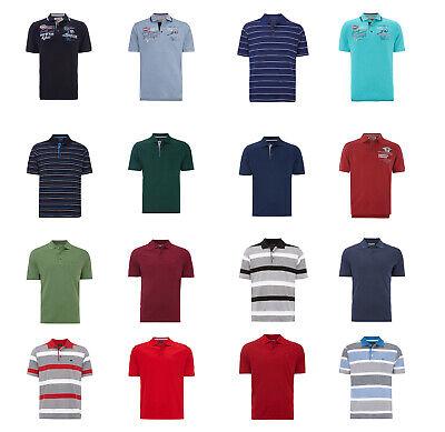 Christian Berg Men Poloshirt Streifenmuster Unifarben Herren NEU (Christian Polo-shirts)