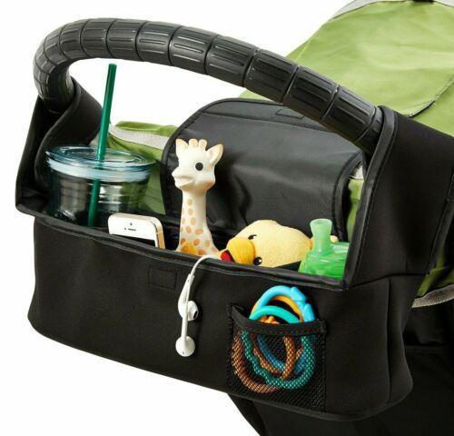 Baby Jogger Stroller Accessory Organizer Neoprene Black Cup Wallet Phone Holder