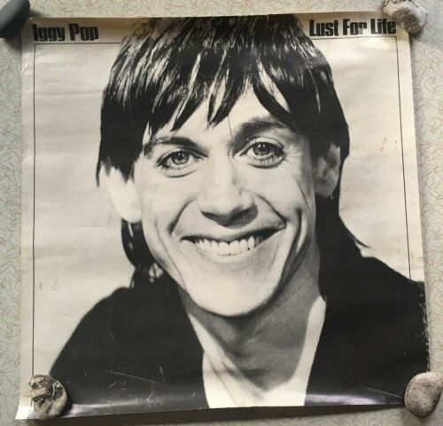 Iggy Pop Lust for Life - Rare Store Display Promo Poster - Punk Rock 1977