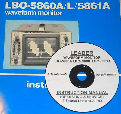 Leader Lbo-5860a Lbo-5860l Lbo-5861a Monitors Ops Service Manual Schematics