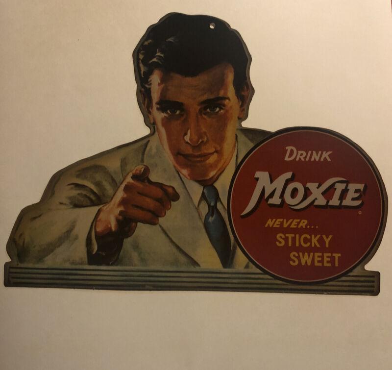 MOXIE  Soda ADVERTISING Picture Hard Cardboard