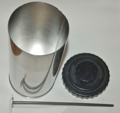 Stainless Steel Film Dev Tank, 4-35mm or 2-120, with lifting rod&top, EXCEELLENT