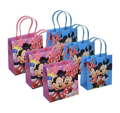 6pcs Mickey and Minnie Mouse Birthday Party Favor Goodie Gift candy Loot Bags - Minnie And Mickey Party Supplies