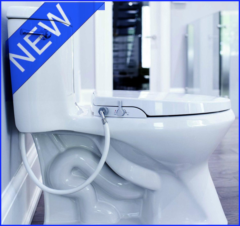 GenieBidet Seat - Self Cleaning Dual Nozzles. Rear & Feminin