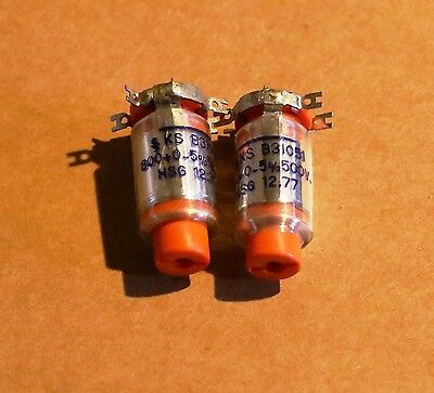 Siemens Polystyrene Styroflex Nos 800pf 500v Capacitors 2 Caps