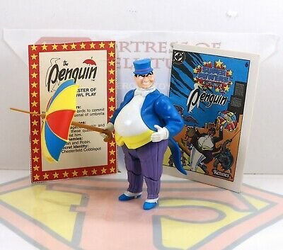Vintage 1984 Kenner DC Super Powers Penguin Action Figure- Umbrella,Comic,Card