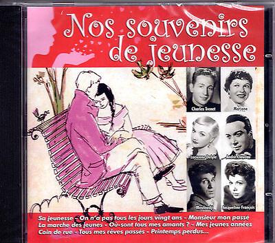 Cd 25t Souvenirs De Jeunesse Marjane/renard/mouloudji/ulmer/trenet/claveau/lebas