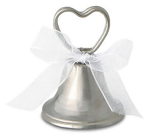 12 Wedding Place Card Silver Working Bell Table Name