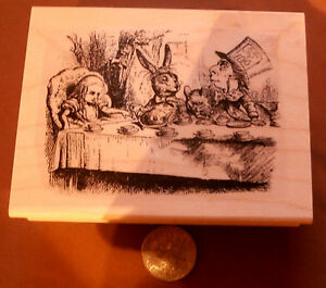 P8 Alice in Wonderland Tea Party rubber stamp WM