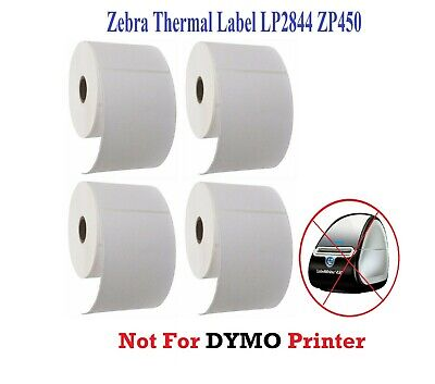 4 Rolls 4x6 Direct Thermal Shipping Labels 250roll For Zebra 2844 Zp450 Eltron