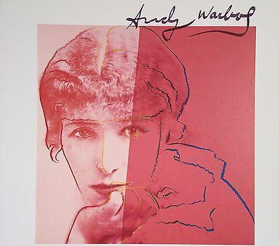 ANDY WARHOL HAND SIGNED SIGNATURE * SARAH BERNHARDT *  PRINT  W/ C.O.A.