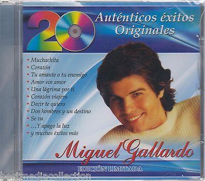 Sealed   Miguel Gallardo Cd 20 Autenticos Exitos Originales Brand New