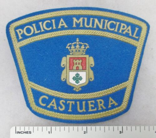 Vintage SPANISH POLICE PATCH POLICIA MUNICIPAL CASTUERA SPAIN
