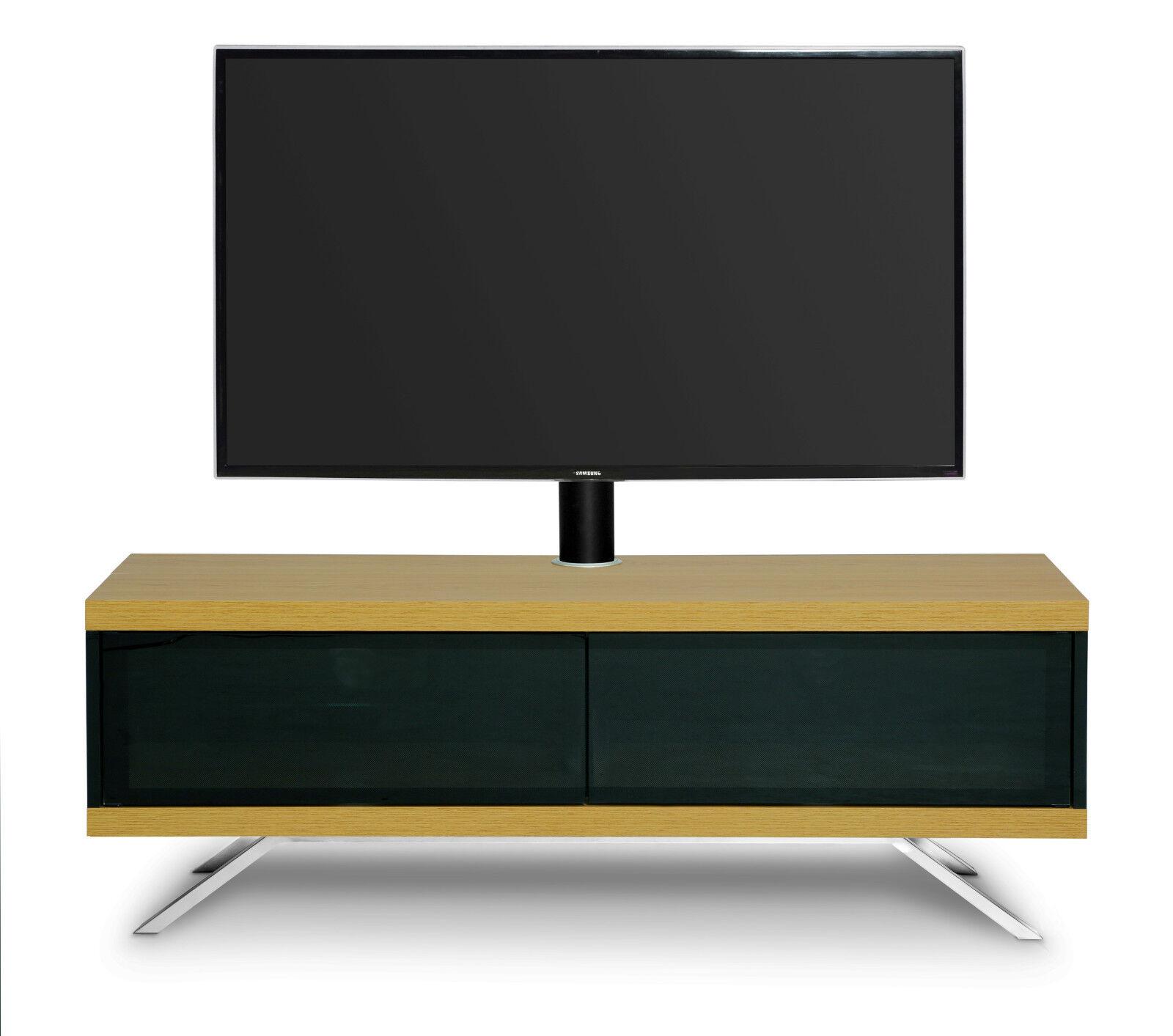 MDA Designs Tucana HYBRID 1200 Oak Glass TV Cabinet Stand