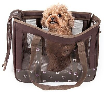 Surround View Posh Designer Fashion Travel Pet Dog or Cat Carrier Bag Purse