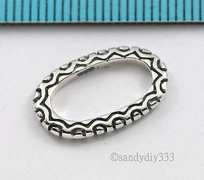 Flower Jump Ring - 1x STERLING SILVER OVAL FLOWER JUMP RING LINK CONNECTOR 17.2mm N805