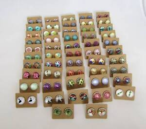 314 Pairs of Cabochon Earrings, make fantastic profit from these