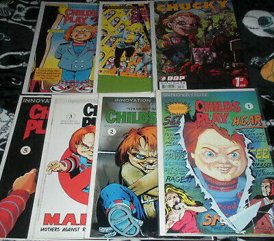 Child's Play 5 (CHILD'S PLAY 1,2,3,5 CP2 3 CP3 3 INNOVATION HORROR MOVIE COMIC LOT CHUCKY)