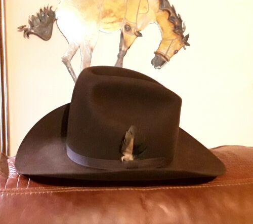 VINTAGE RESISTOL SELF-CONFORMING XXX BEAVER FELT BROWN COWBOY HAT SIZE 6 5/8
