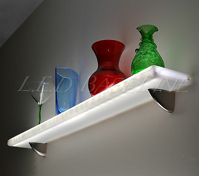 24 Floating Wall Shelf Display With Color Changing L.e.d. Lights