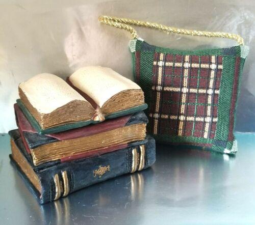 Stacked Reading Books Trinket Box & Decorative Pillow