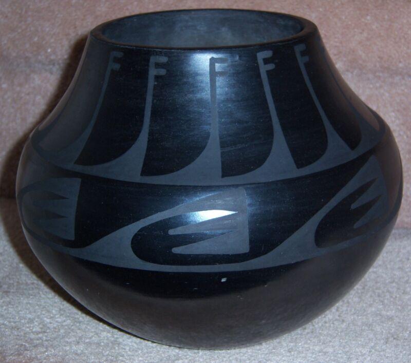 Tonita Juan Roybal San Ildefonso Blackware Jar Bowl Pot Circa 1930