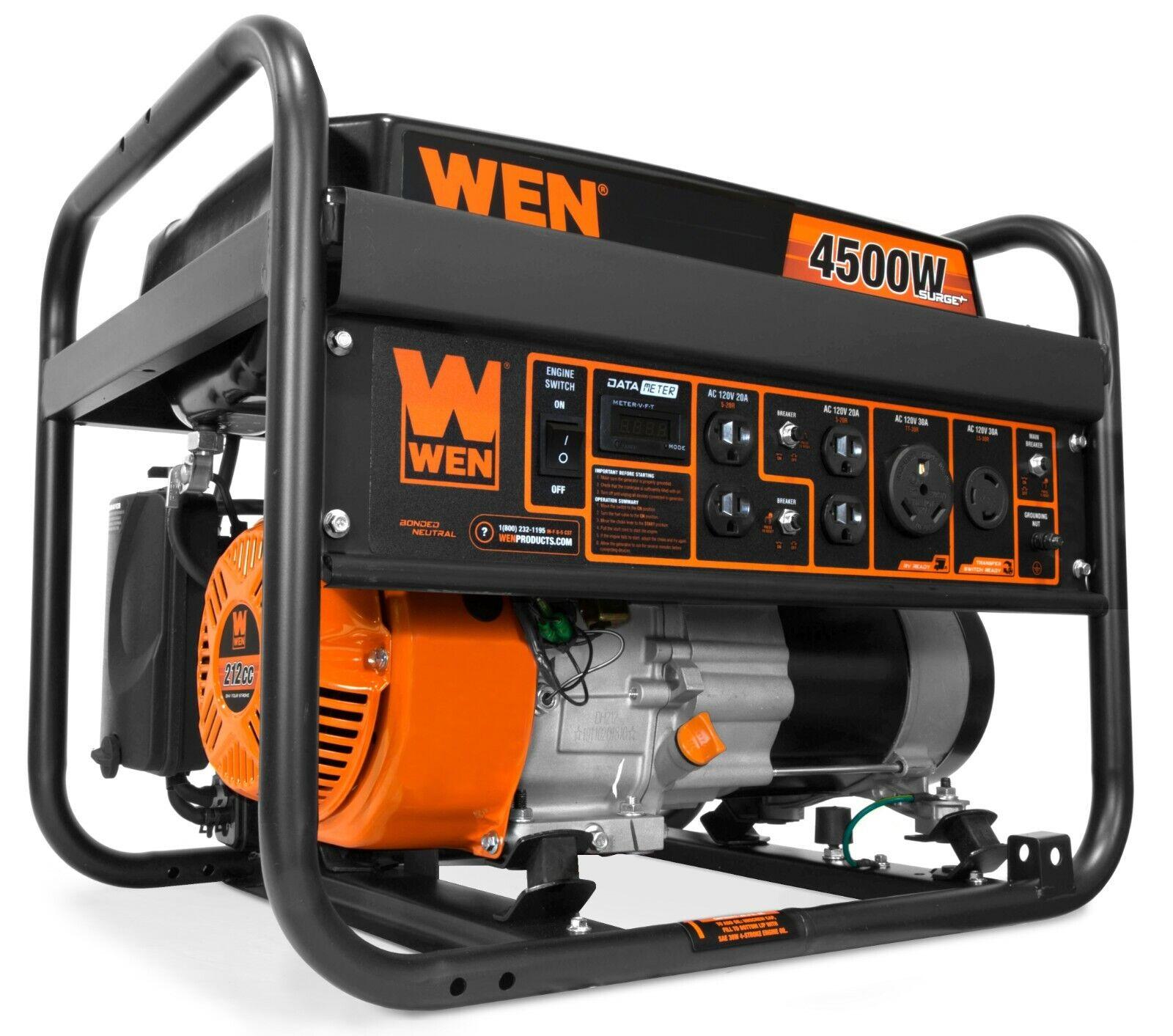 WEN GN4500 4500-Watt 212cc Transfer Switch and ...