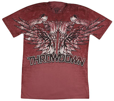 Throwdown Mens Blood T-Shirt -Burgundy - XL